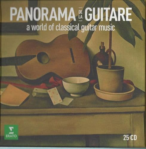 Various<br>Panorama De La Guitare (A World Of Classical Guitar Music)<br>25CD, RE, RM + Boxset, Comp